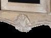 Comodă cu trei sertare Gilbert, 46x100x35 cm, lemn de plop/ mdf/ furnir/ metal, maro deschis