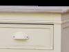 Comodă stil clasic cu două sertare și două uși Adelaida, 85x90x39 cm, lemn de plop/ mdf/ metal, crem/ maro deschis