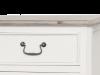 Comodă stil clasic cu sertare și uși Collin, 90x160x45 cm, lemn de plop/ mdf/ metal, alb/ maro