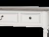 Consolă stil clasic cu trei sertare Collin, 80x110x40 cm, lemn de plop/ mdf/ metal, alb/ maro