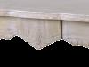Masă living Gilbert , 79x160x80 cm, lemn de plop/ mdf/ furnir/ metal, maro deschis