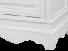 Noptieră cu ușă și sertar Alexander , 71x46x36 cm, lemn de plop/ mdf/ metal, alb