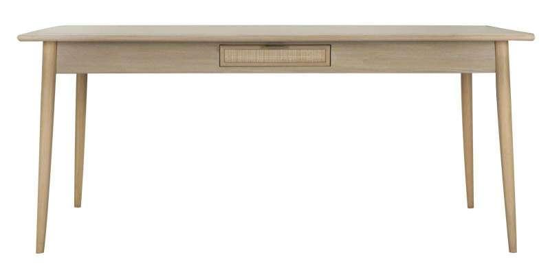 Masă de dining Vienna, 76x180x90 cm, mdf/ furnir, maro poza