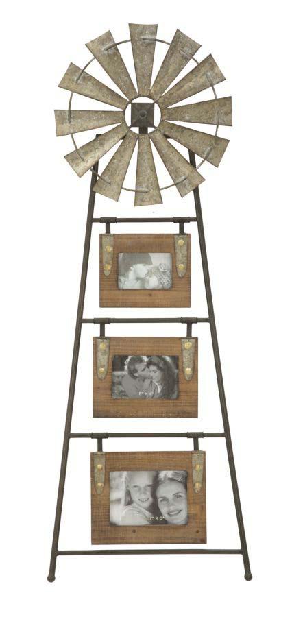 Ramă foto de perete Mulino, 117.5x43x3 cm, metal/ mdf, maro
