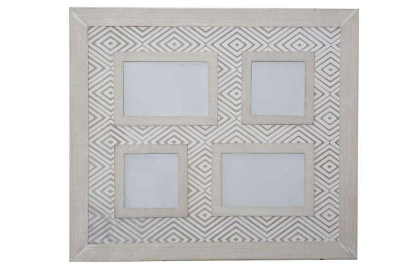 Ramă foto Hypnos, 41x46x4 cm, mdf/ sticla, alb/ gri