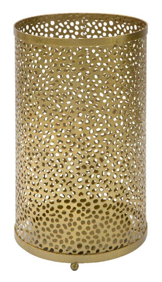 Suport de umbrelă Hol, 43x24x24 cm, metal, auriu poza