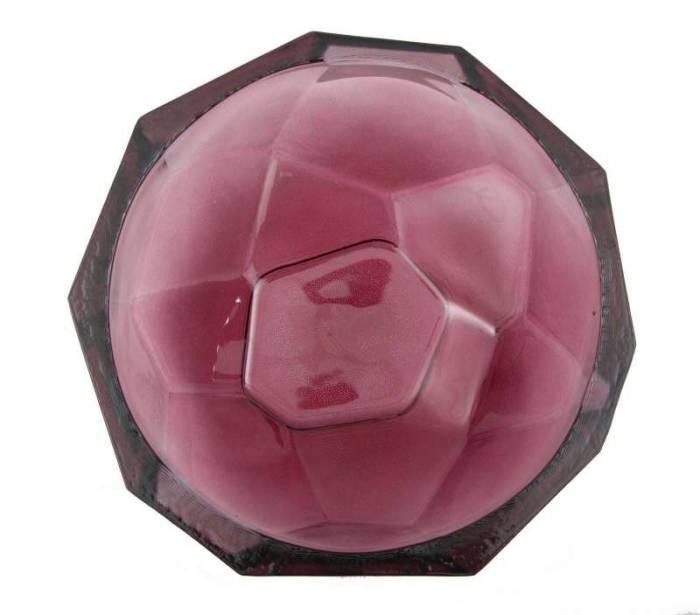 Bol Stone, 8x25x25 cm, sticla, rosu