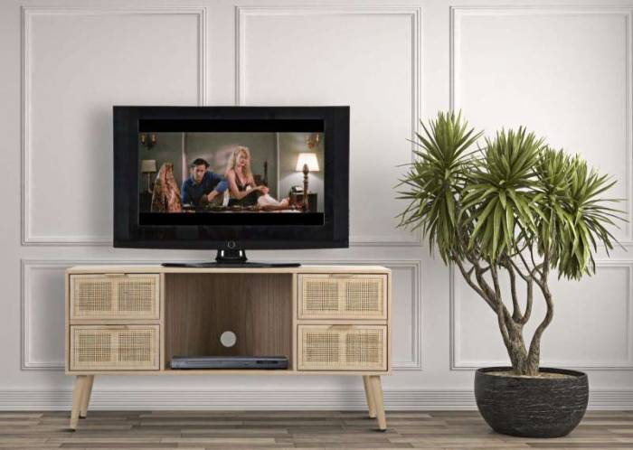 Comodă TV Vienna, 60x120x42 cm, mdf/ furnir, maro