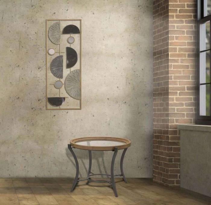 Decorațiune de perete Geometric, 74x28,5x2,5 cm, metal, multicolor