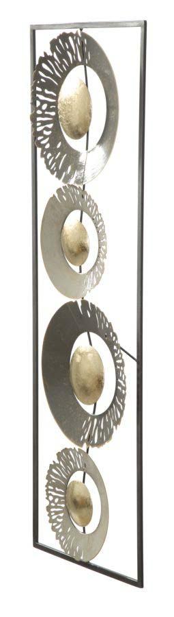 Decorațiune de perete Ring, 89,5x31x3 cm, metal, multicolor