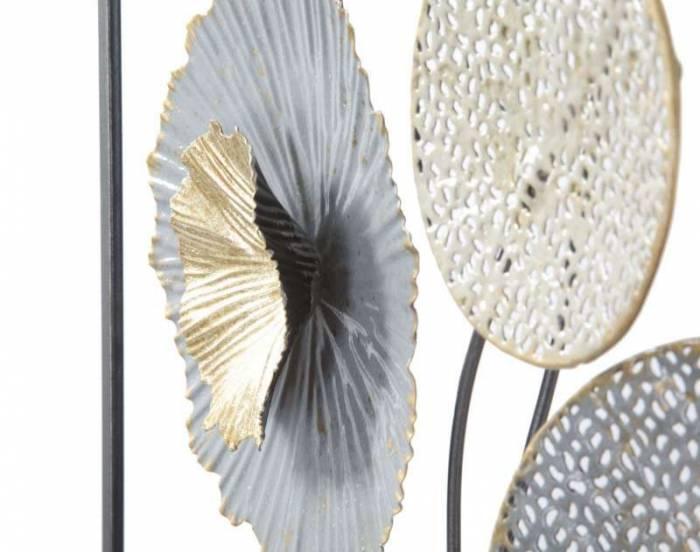 Decorațiune de perete Sally, 50x50x3,8 cm, metal, multicolor