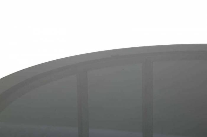 Masă de cafea Oslo, 43x58x58 cm, metal/ sticla, argintiu/ negru