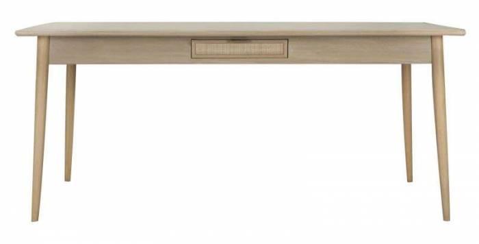 Masă de dining Vienna, 76x180x90 cm, mdf/ furnir, maro