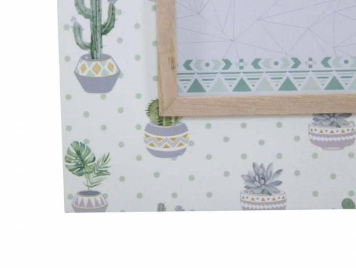 Ramă foto Cactus, 27x22x1 cm, mdf/sticla, verde