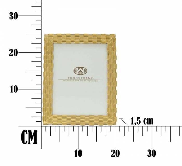 Ramă foto Chain Glam, 24.3x19.3x1.5 cm, polirasina/ sticla, auriu