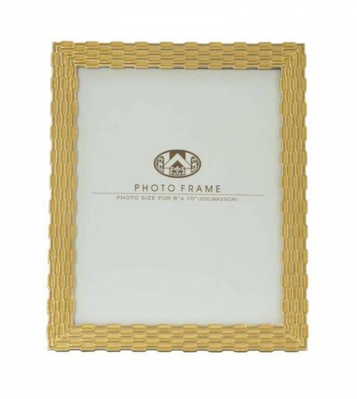 Ramă foto Chain Glam, 29.5x24.3x1.5 cm, polirasina/ sticla, auriu