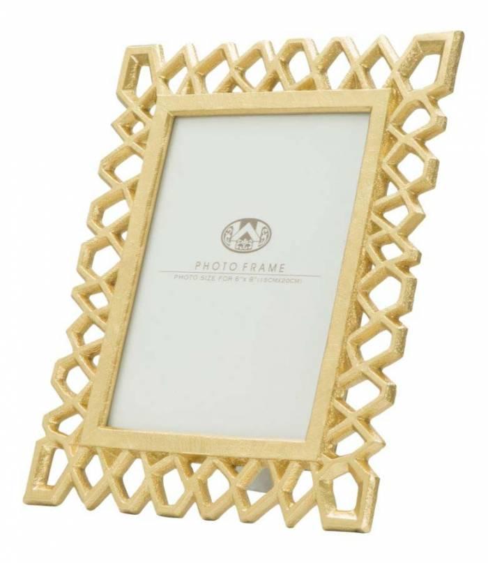 Ramă foto Classic Glam, 29.5x23x1.7 cm, polirasina/ sticla, auriu