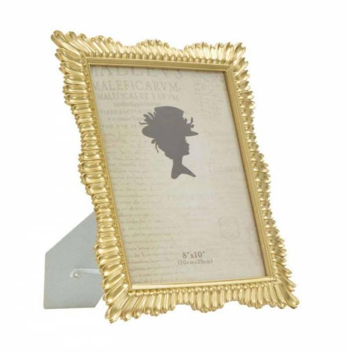 Ramă foto Glam, 32x27x1.8 cm, polirasina/ sticla, auriu
