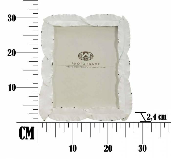 Ramă foto Leaf, 31.8x26.4x2.4 cm, polirasina , alb