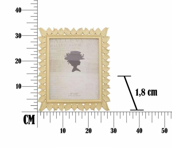 Ramă foto Leaf Glam, 34x28.5x1.8 cm, rasina, auriu