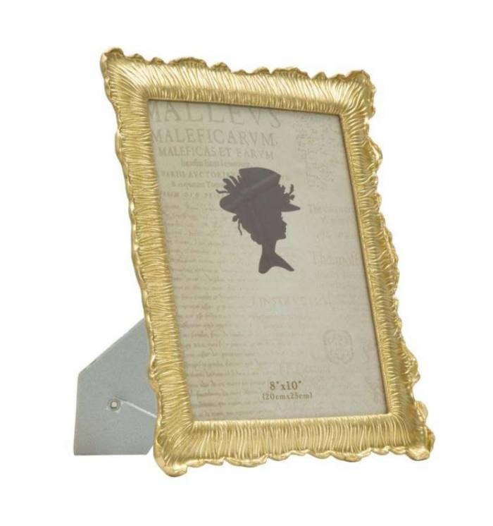 Ramă foto Linear Glam, 32.3x27x1.8 cm, polirasina/ sticla, auriu