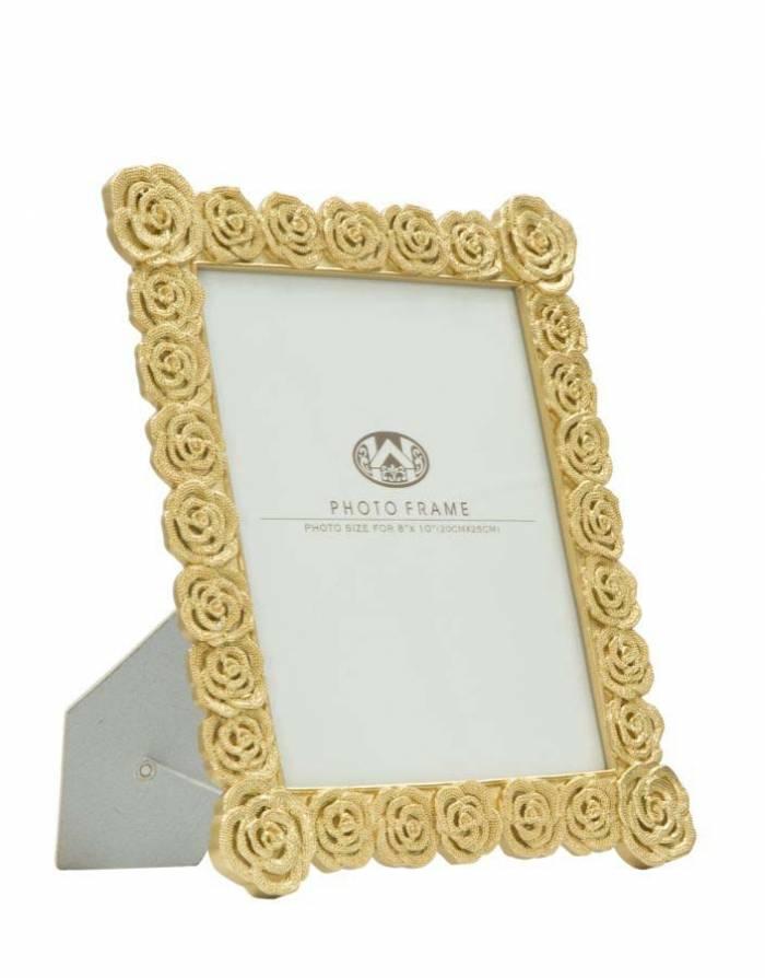 Ramă foto Roses Glam, 34.3x28x2 cm, polirasina/ sticla, auriu