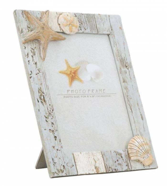 Ramă foto Seashell, 26.3x20.4x3.2 cm, polirasina , multicolor