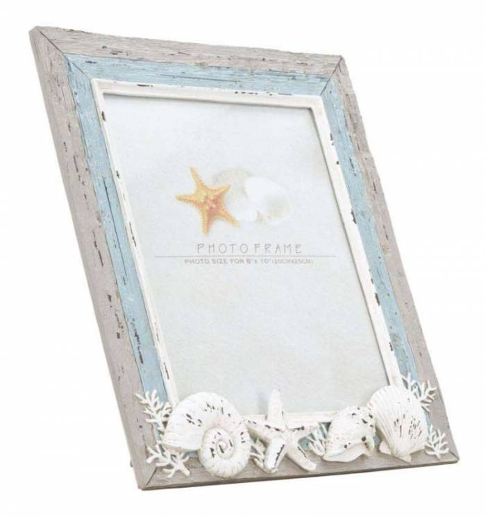 Ramă foto Seashell, 38.5x33.5x3.5 cm, polirasina , multicolor