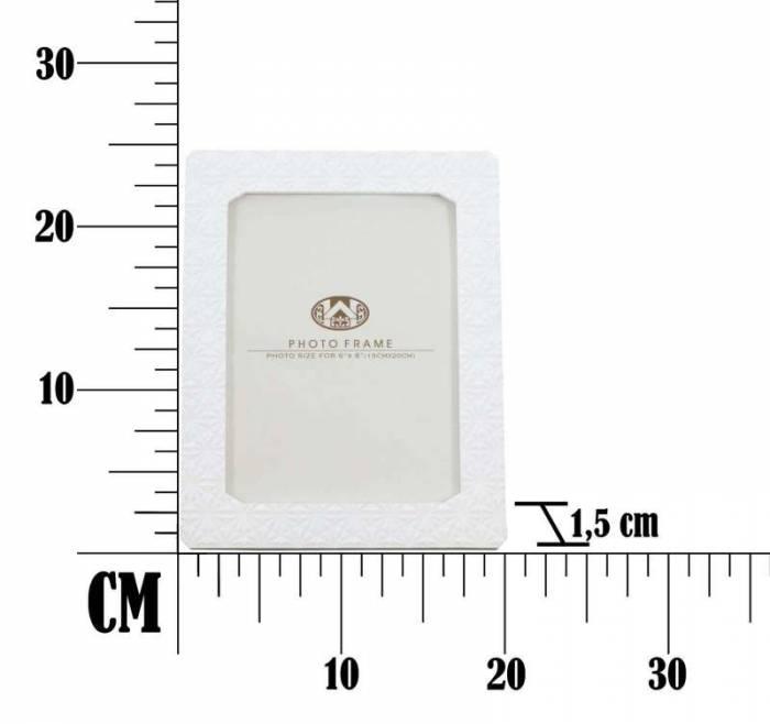 Ramă foto Snowflake, 24.8x19.8x1.5 cm, polirasina , alb