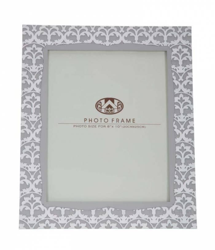 Ramă foto Time, 32.5x27.5x1.5 cm, rasina, gri/ alb