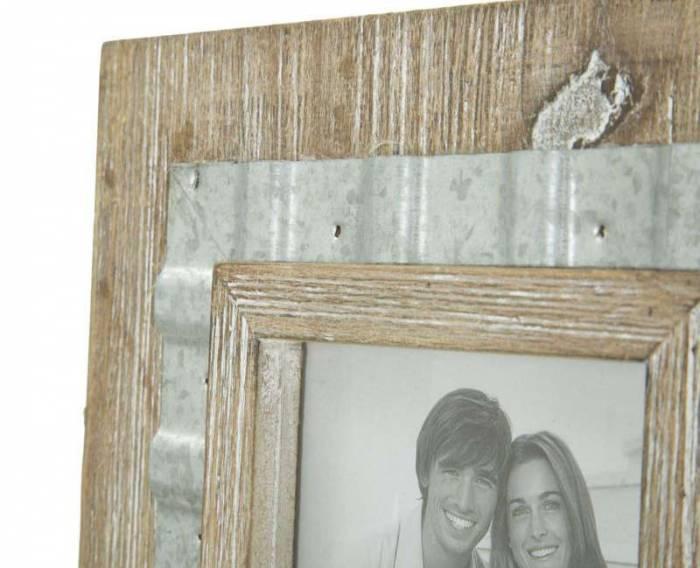Ramă foto Wody, 26.5x21.5x3 cm, metal/ mdf, maro/ argintiu