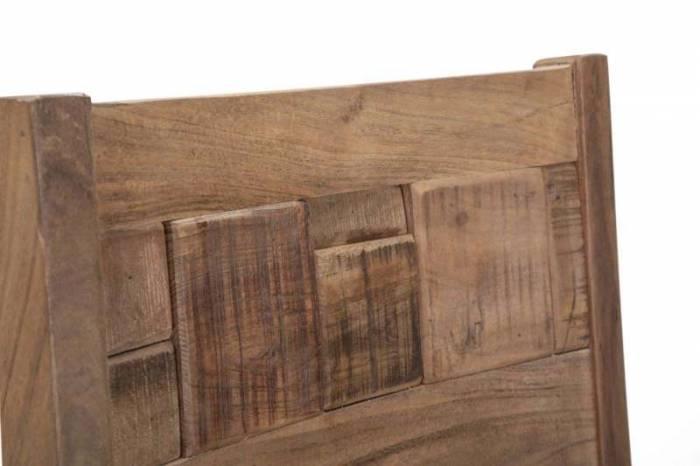 Set 2 scaune Mumbai, 100x45x45 cm, lemn de acacia/ metal, maro