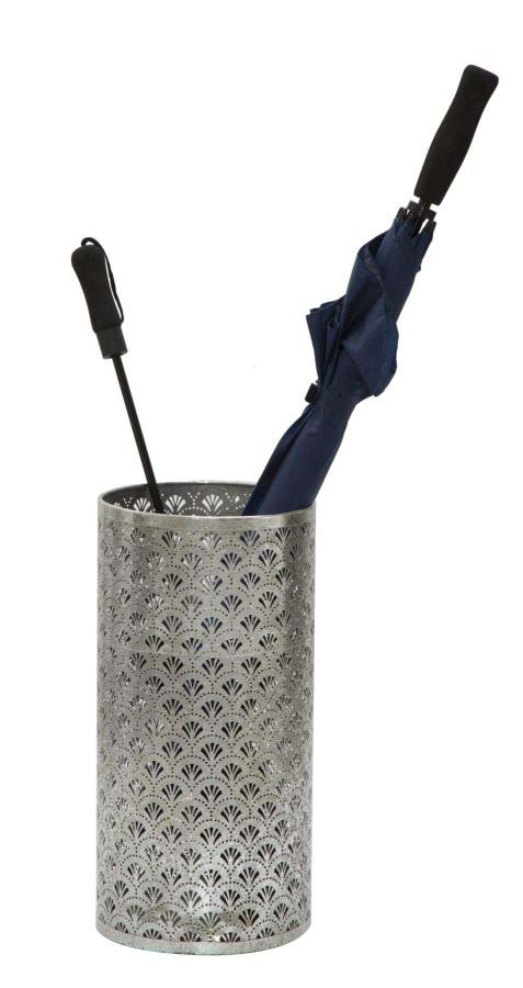 Suport de umbrelă Flowy, 48x24x24 cm, metal, argintiu