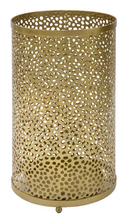 Suport de umbrelă Hol, 43x24x24 cm, metal, auriu