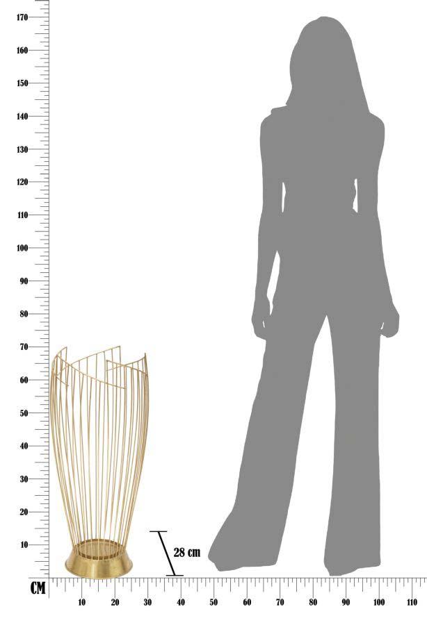Suport pentru umbrelă Fashion, 69x28x28 cm, metal, auriu
