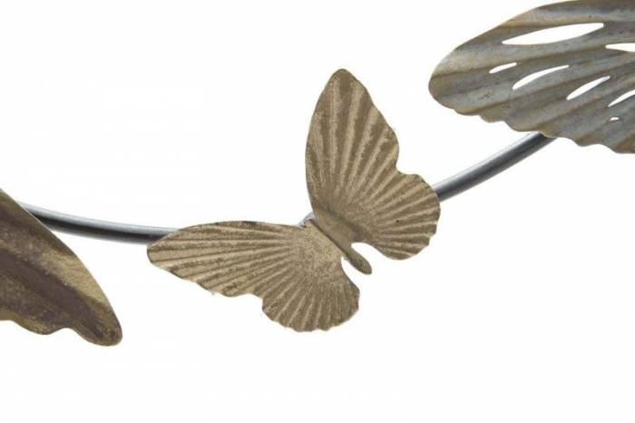 Decorațiune de perete Butterfly, 52x118x3 cm, metal, multicolor