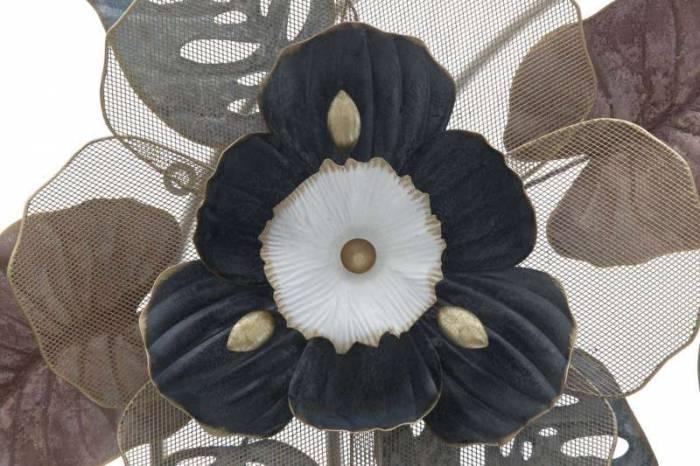 Decorațiune de perete Flower, 61,5x93x11 cm, metal, multicolor