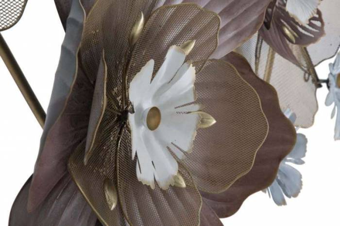 Decorațiune de perete Flower, 66x154x12 cm, metal, multicolor