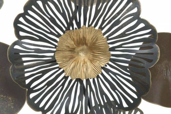 Decorațiune de perete Flower, 85x155x8,5 cm, metal, multicolor