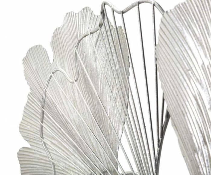 Decorațiune de perete Goxy, 124x90x7 cm, metal, argintiu