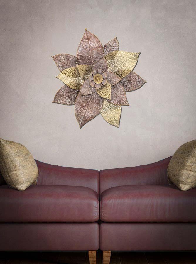 Decorațiune de perete Itis, 73,5x76x8 cm, metal, multicolor