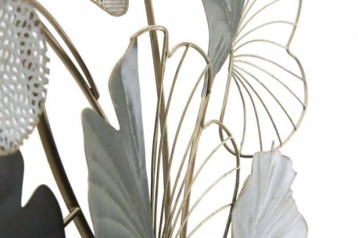Decorațiune de perete Lotus, 108,5x70,5x7,5 cm, metal, multicolor
