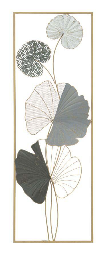 Decorațiune de perete Lotus Right, 89,5x31x5 cm, metal, multicolor