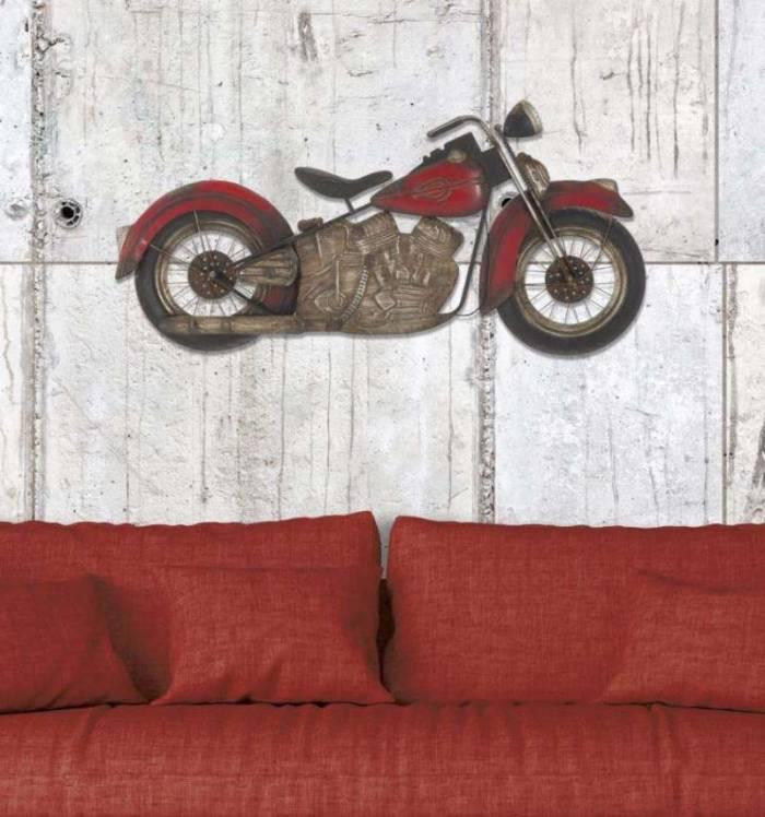 Decorațiune de perete Motorbike, 47,5x98,5x5,5 cm, metal, multicolor