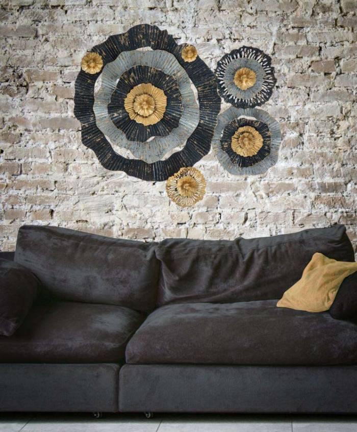 Decorațiune de perete Otos, 80x100x8 cm, metal, multicolor