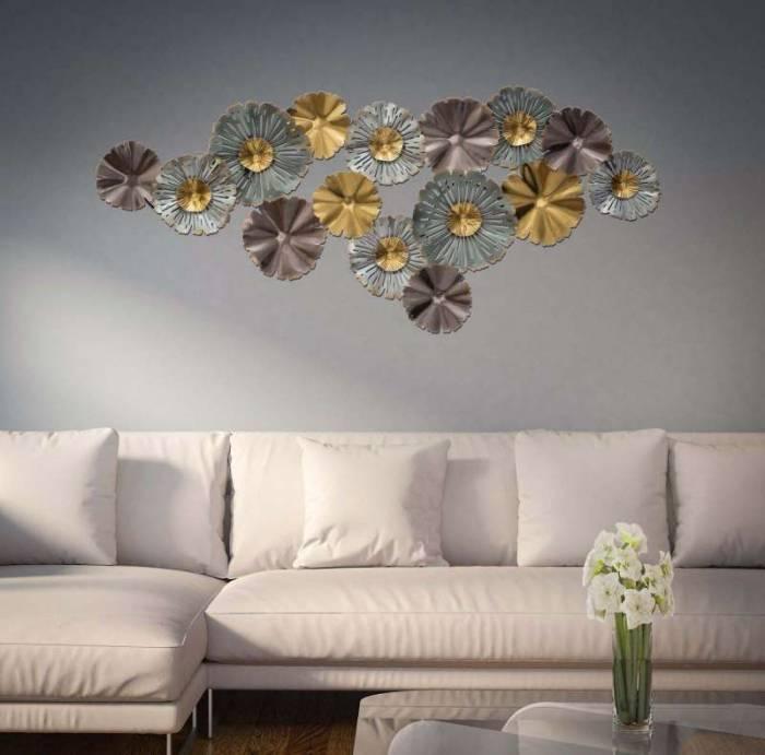 Decorațiune de perete Torh, 66x152x9 cm, metal, multicolor
