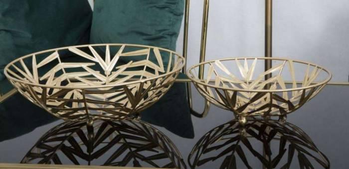 Decorațiune Glam Couple, 10,8/ 8x35/5x35,5/25 cm, metal, auriu