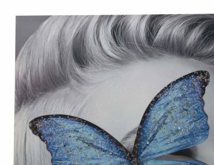Tablou handmade Class, 120x80x3,8 cm, lemn de brad/ canvas, multicolor