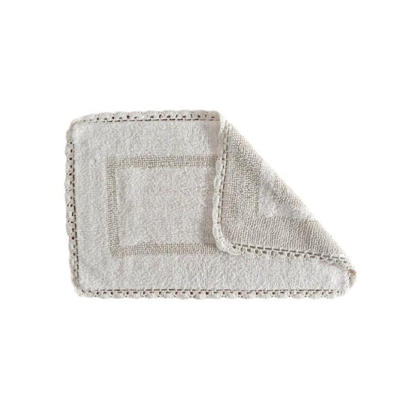 Covoraș alb de baie Crochet Blanco 50x80 cm poza