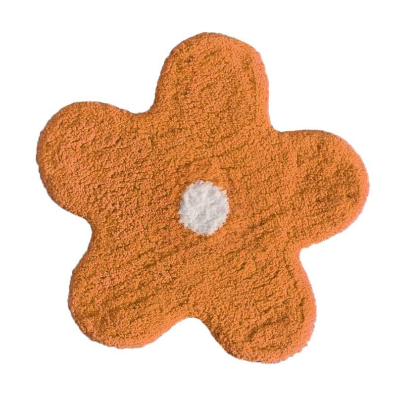 Covoraș portocaliu de baie bumbac steluță Alegra poza